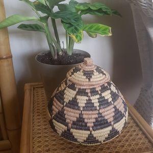 Handmade African Zulu Basket